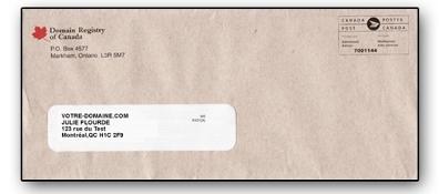 Enveloppe DROC