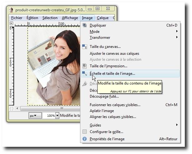 comment augmenter la résolution d'une image avec gimp